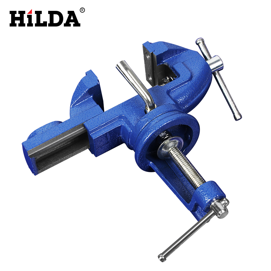 HILDA Mini High Carbon Steel Heavy Vise Table Vise Bench Vice Universal Vise Desktop Vise цена