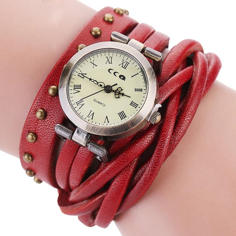 Excellent Quality Leather Women Bracelet Watch Women Ladies Men Fashion Dress Quartz Wrist Watches Relogio Feminino Feb 21