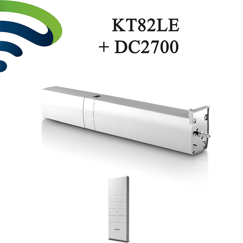 Original Dooya Chargeable Curtain Motor KT82LE DC Automatic Curtain Motor battery With 2700 Remote Controller Light