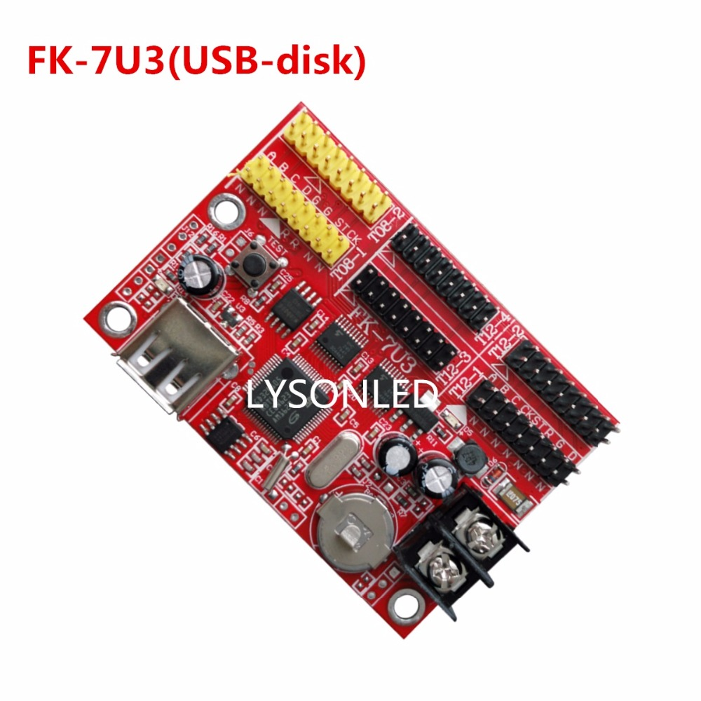 LYSONLED A+ Factory Price FK-7U3 USB Driver P4.75 P7.62 P10 Single And Dual Color LED Display Control Card,Support P13.33 RGB