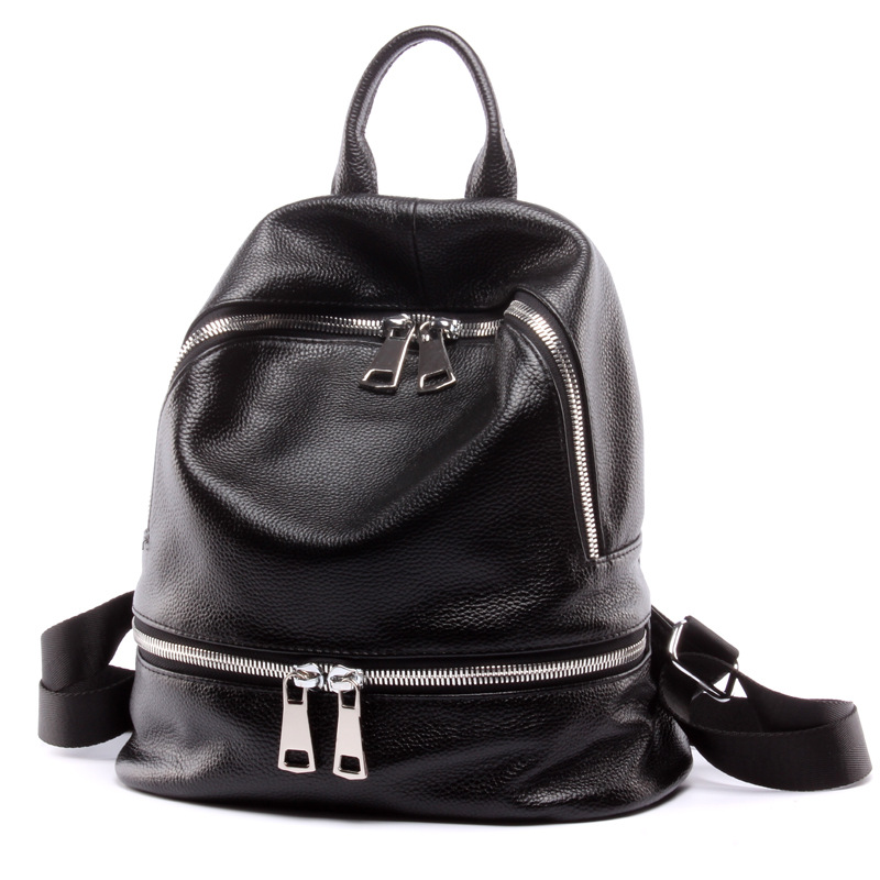 ФОТО New Women Genuine Leather Backpack Fashion Ladies Cow Leather Daily Backpack Female Leisure Travel Cowhide Backpack JZ5079