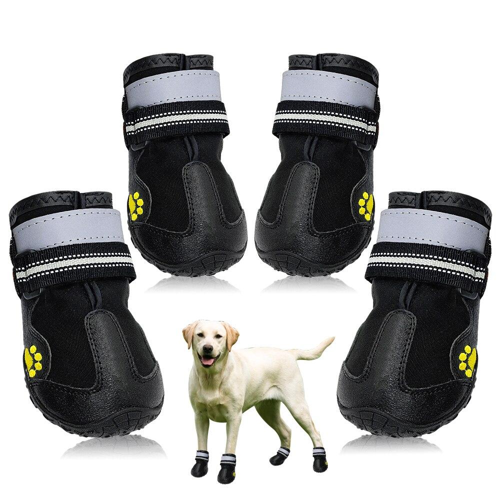 6defb11d4ab Comprar Sapatos Meias cão Para Pitbull Médio Cães de Grande Porte Inverno  Sapatos Animal de Estimação Quente Não deslizamento Grande Cão À Prova D  Água ...