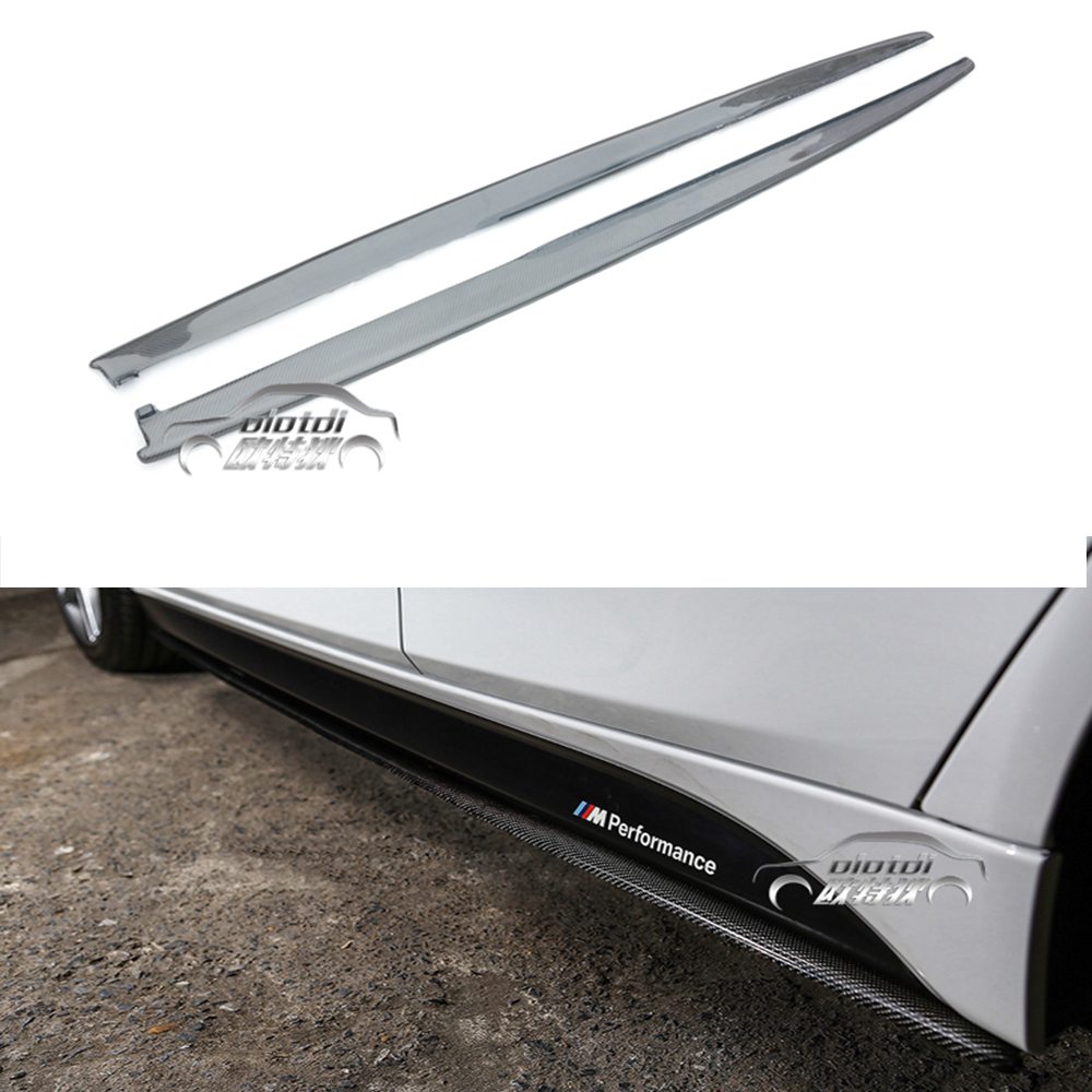 Top Quality F30 F32 carbon fiber side skirts F30 F32 bodykit for BMW / F30 F32 side surrounded for BMW m-tech bumper car styling ...