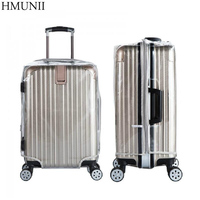 High Quality PVC Zipper Transparent Waterproof Suitcase Protective Cover Travel Luggage Trolley Case Thicker Wear Dust