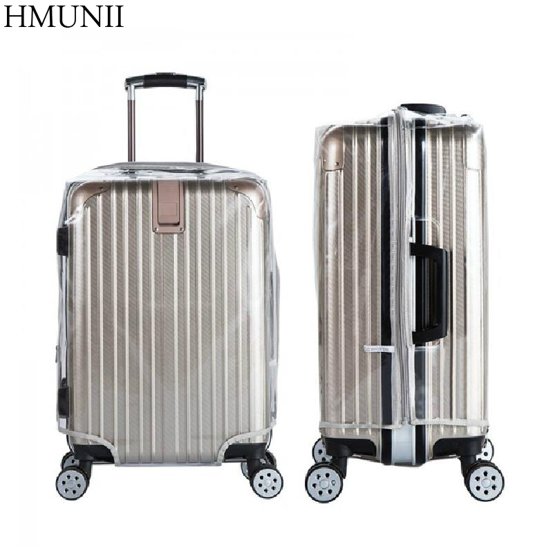 High Quality PVC zipper Transparent Waterproof Suitcase Protective Cover Travel Luggage Trolley Case Thicker Wear Dust Covers
