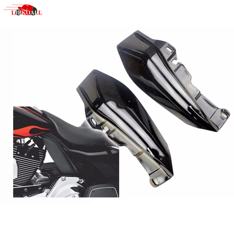 Plastic Black Mid Frame Air Deflector Trim For Harley Street Glide Tri Electra Road 2009 2010 2011 2012 2013 2014 2015 2016 2017 abs plastic new silver stock oil cooler cover for harley fit touring electra road street glide 2011 2012 2013 2014 2015