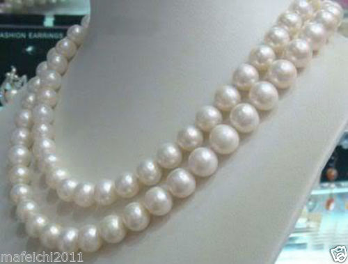 7-8mm Genuine Natural White Akoya Cultured Pearl Jewelry Necklace 32 long 80 inches 7 8mm white akoya cultured pearl necklace beads hand made jewelry making natural stone ye2077 wholesale price