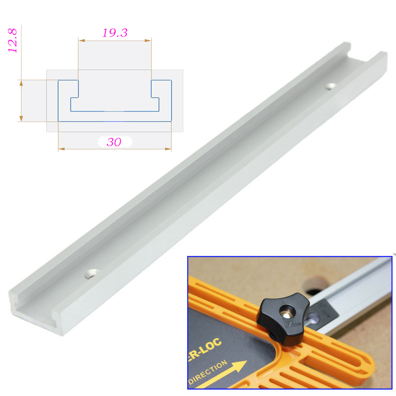 High Quality 12inch 300mm T-tracks T-slot Miter Track Jig Fixture Slot For Router Table Saw T track T slot New 2pcs woodworking diy tool miter track stop for t track t slot jf1103