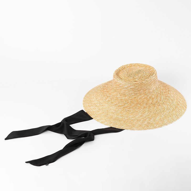 5c223b3d50d ... Tie Straw Hat Vintage Straw Bucket Hats for Ladies 2018 New Wide Brim  Sun Hats Women ...