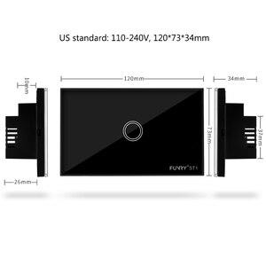Image 2 - ST1 Funry Sensör Dokunmatik Anahtarı 1 Gang ABD Standart Cam Dokunmatik Anahtarı 110 240 V Işık Sensörü Su Geçirmez Anahtarı duvar Işık Anahtarı