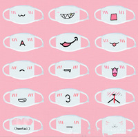 Dust proof Cute Kawaii Anime Emoticon Cotton Funny expression Mouth Anti Dust Face Masks