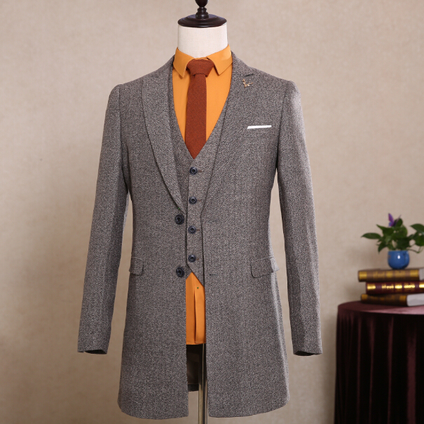 a7e89f5177c Latest Coat Pant Designs Brown Tweed Groom Tuxedo Winter Blazer Tailor Made  3 Piece Slim Fit Mens Wedding Party Dinner Suits