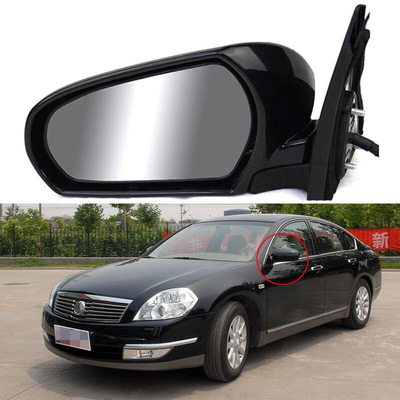 Savanini 7 Pins Exterior Side Automatic Folding Power Adjustable&Heated Glass Mirror For Nissan Teana 2004 2007