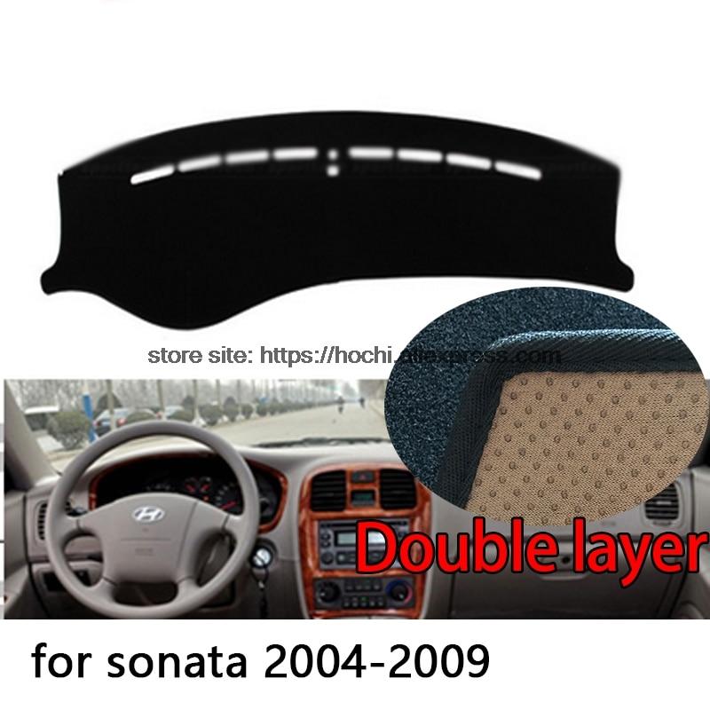 For Hyundai sonata 2004-2016 Double layer Silica gel Car Dashboard Pad Instrument Platform Desk Avoid Light Mats Cover Sticker