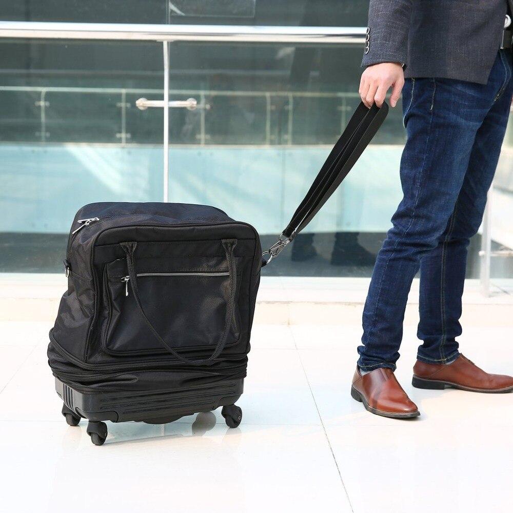 Портативный Чемодан 20 л Для мужчин Водонепроницаемый складной Оксфорд путешествия Чемодан сумка с универсальным Колёса ...