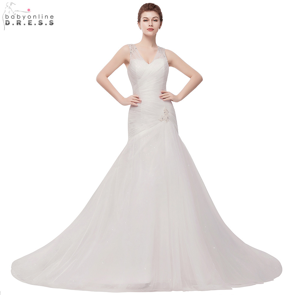 Wedding Gowns In Color: Aliexpress.com : Buy Romantic Mermaid Tulle Wedding