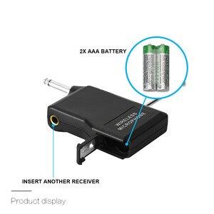 Image 5 - Microphone professionnel UHF système de Microphone sans fil Lavalier revers micro récepteur + émetteur pour caméscope enregistreur Microphone