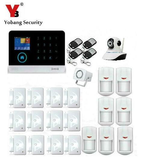Yobang Security-Android and IOS APP Control IP Camera Surveillance WIFI GSM Autodial House Office Burglar Intruder Alarm System