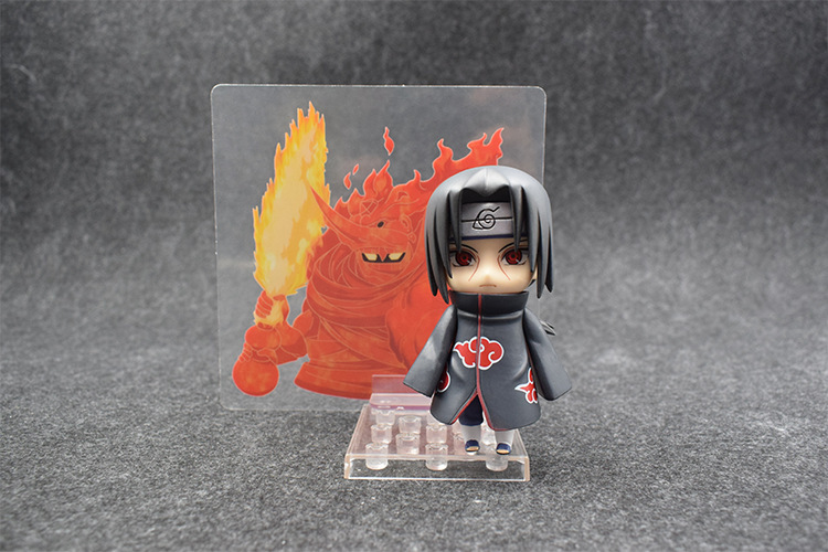 10cm Naruto Nendoroid Shippuden Uchiha Itachi 820# Anime Action Figure PVC toys Collection figures for friends gifts 35