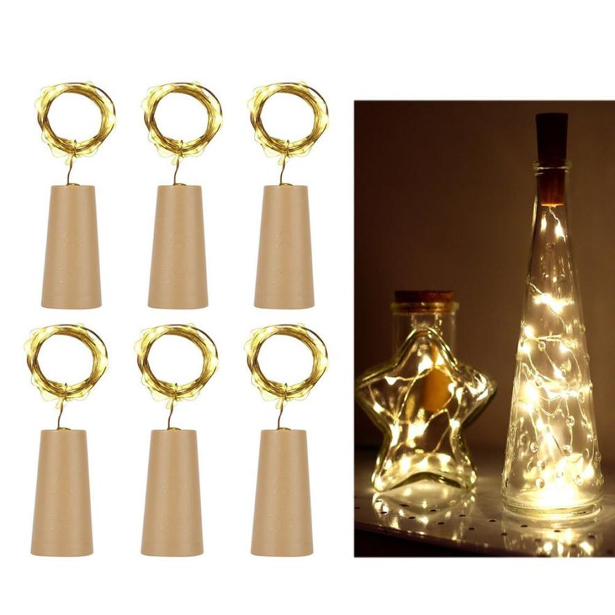 Home & Garden 6pcs Cork Shaped Led Night Light Starry Light Wine Bottle Lamp For Party Decor Drop Shipping 6.29 Glow Party Supplies