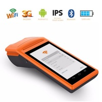 SM-V1 5.5 Inch Touch Screen Handheld 3G Andoid Mini Pos Machine with Bluetooth Wifi Thermal Mini Pos Printer