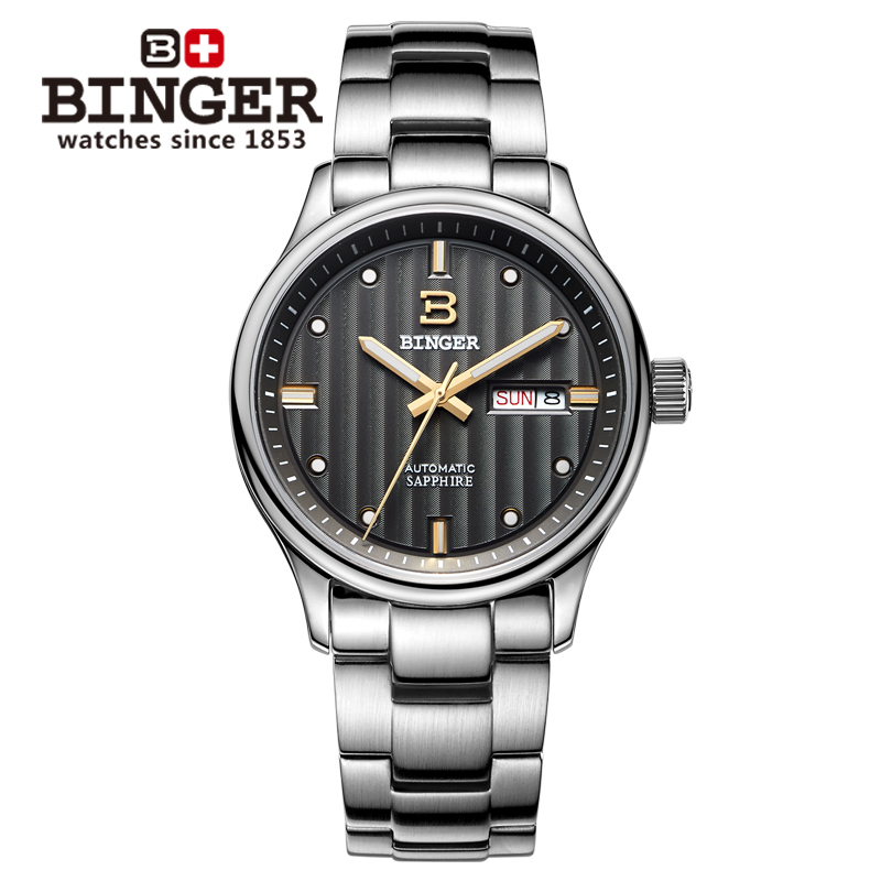 BINGER Top Brand Watch Automatic Mechanical Watches Men Fashion Luxury Sapphire Crystal relogio masculino Free shipping new business watches men top quality automatic men watch factory shop free shipping wrg8053m4t2