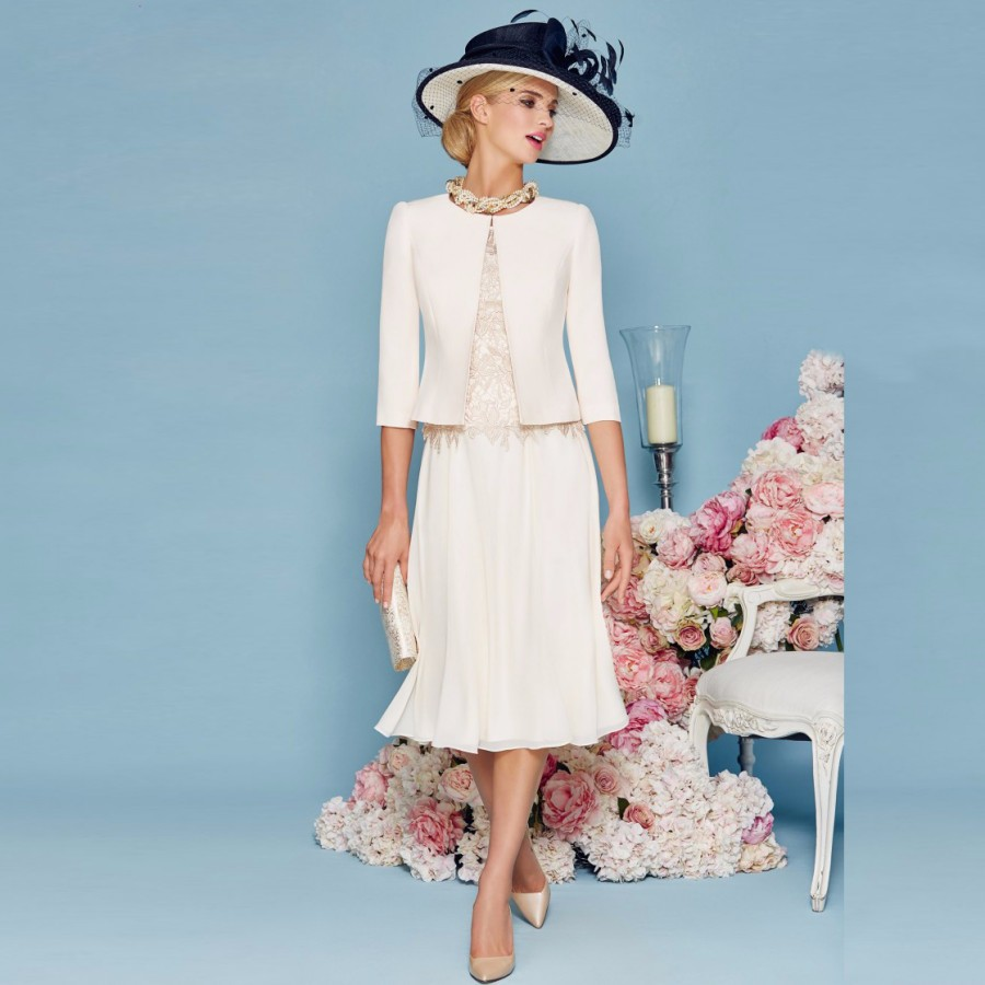 Mother-of-the-Bride-Dress-2016-Vintage-3-4-Sleeves-Mother-Dress-with-Jacket-Chiffon-Evening