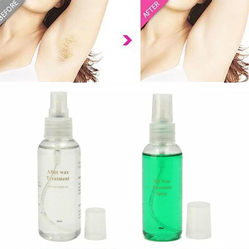 60ml Health Body Hair Removal Spray Serum Pre & After Wax Treatment Liquid Hair Removal Waxing Sprayer Dropshipping image