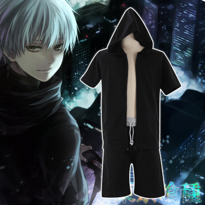 Tokyo Ghoul Kaneki Ken Cosplay Costume Jumpsuit Battle Uniform Anime Cosplay Costume Pants Jackets one set  outfit