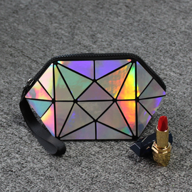Geometric Cosmetic Bag Laser Material Ling Brand Makeup For Women