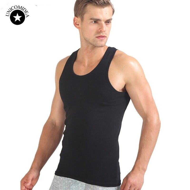 Men O neck Sleeveless Tank Tops Bodybuilding Slim Fits Black White Tee Tops Brand Clothing Men's Tank Top Vest