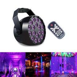 18W UV 18 efekt oświetlenia scenicznego led światła automatyczny dźwięk aktywny DMX512 ultrafioletowe do klubu na imprezę światło dyskotekowe na ślub klub karaoke