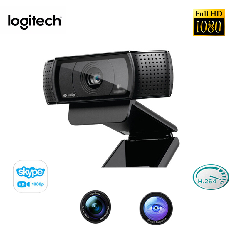 Original Logitech C920E HD Camera Live Network Video Auto Fucos Conference Wide Angle 1080P Built in