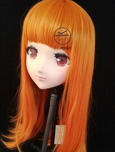(LiLi Mask-45) Sweet Girl Resin Head Mask Kigurumi Cosplay Japanese Role Play Anime Silicone Kigurumi Mask Crossdresser Doll
