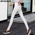 2016 Women Korean Spring Summer Thin Cotton Woven Elastic Leggings Female Pencil Pants Casual  Leggings For Women Trousers