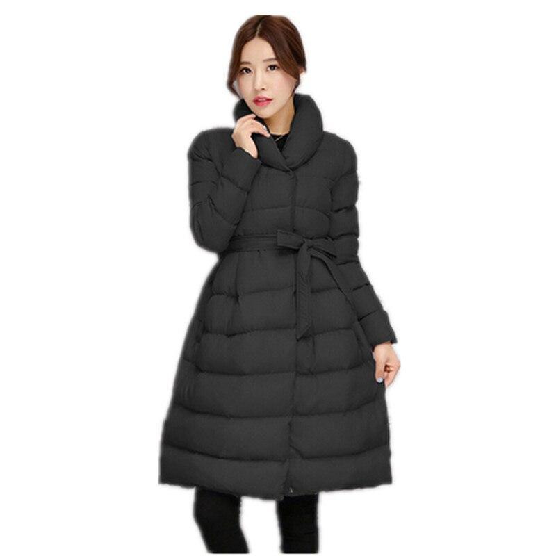 Veste Bas Section Parkas gray D'hiver Femmes 2018 Plus Manteau Nouveau Avec long Coton La Chaud Orange Moyen Vers black Épais Survêtement purple Le Ceinture Taille wxI0ZvSq