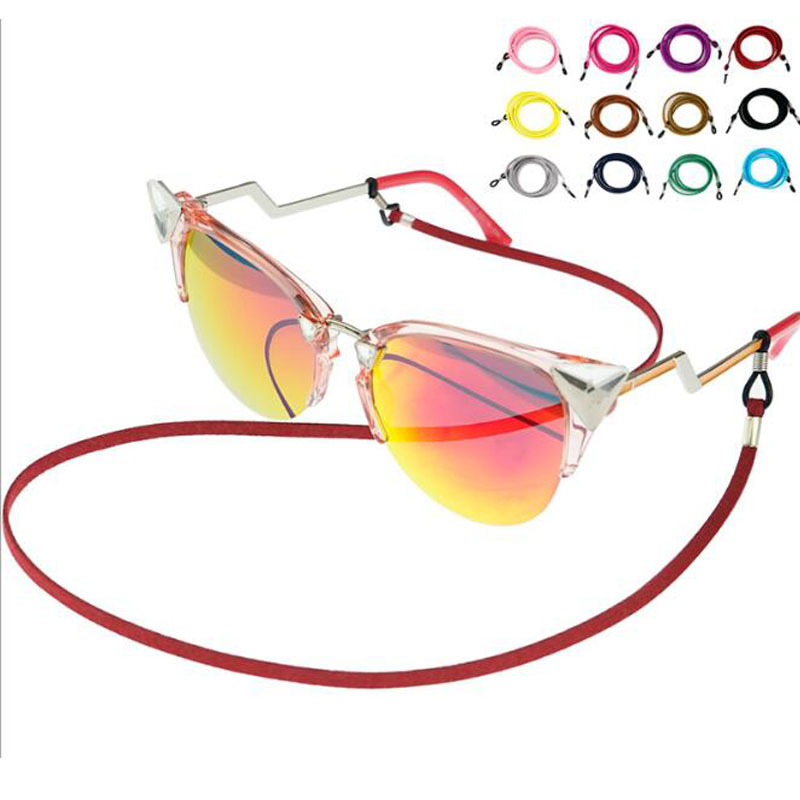 Sunglasses Cotton Neck String Cord Retainer Strap Eyewear Lanyard Holder With Good Silicone Loop 12 Colors Option Drop Shipping