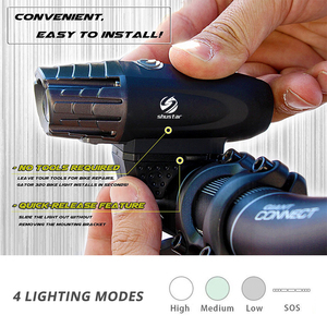 Image 2 - USB Rechargeable LED Flashlight Bicycle Light Bike Lamp Front LED Headlight For night riding, fishing, hunting, camping, etc.