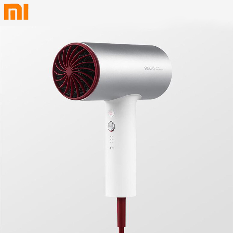 Original Xiaomi Soocas Hair Dryer Aluminium 1800W Anion Quick drying Hair Tools Hot and Cold Hair