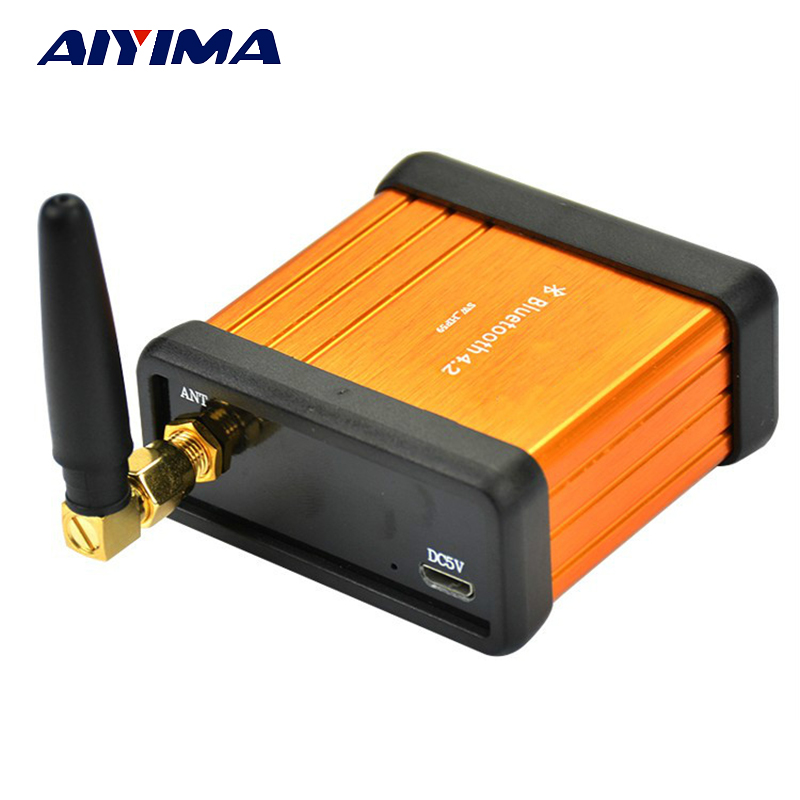 Aiyima HIFI Bluetooth Placa Amplificadora CSR64215 V4.2 Caixa de Receptor De Áudio Estéreo Bluetooth Do Carro Bluetooth Modificado DIY Suporte APTX