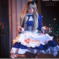 APH Axis Powers Hetalia Maid Belarus Lolita Cosplay Costume Dress+Headwear+Apron+Tie