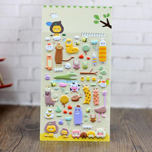 Animal Farm Cartoon Stickers 3d Bubble Stickers Clip Creative Stationery Gift + Nursery, Phone Diary Decorative Stickers ngk farm stickers