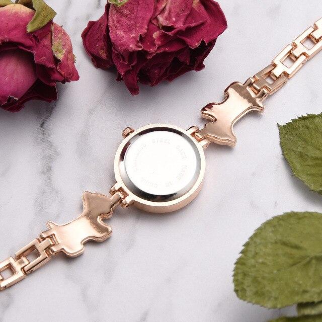 Lvpai marque chien conception célèbre Bracelet Quartz horloge de luxe strass bande robe dames montre créative Relogio Feminino