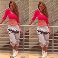European Style Sexy Sportswear Suit Two Piece Sets Women Crop Tops and Pants Fashion Casual Tracksuit conjunto feminino