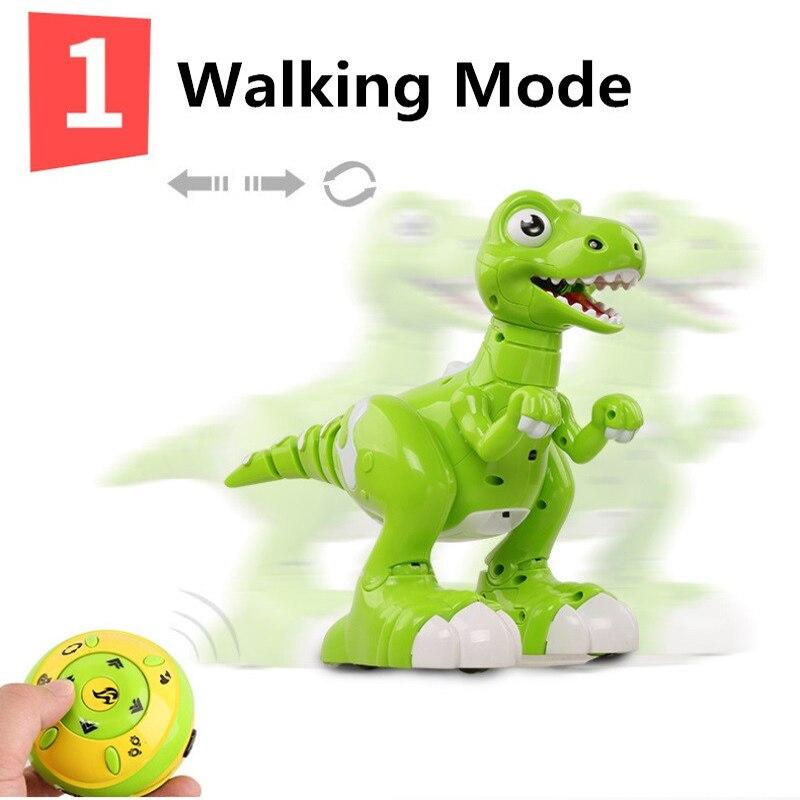 Niños regalos baile y música inteliget seguir RC caminar dinosaurio juguetes Jurásico tyrannosaurus Rex RC Robot con pulverización - 2