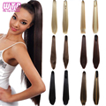 WTB Long Straight Claw Ponytail Clip In Hair Extensions Heat Resistant Synthetic False Hair Clip In Hair Tails Fake Pony Tails