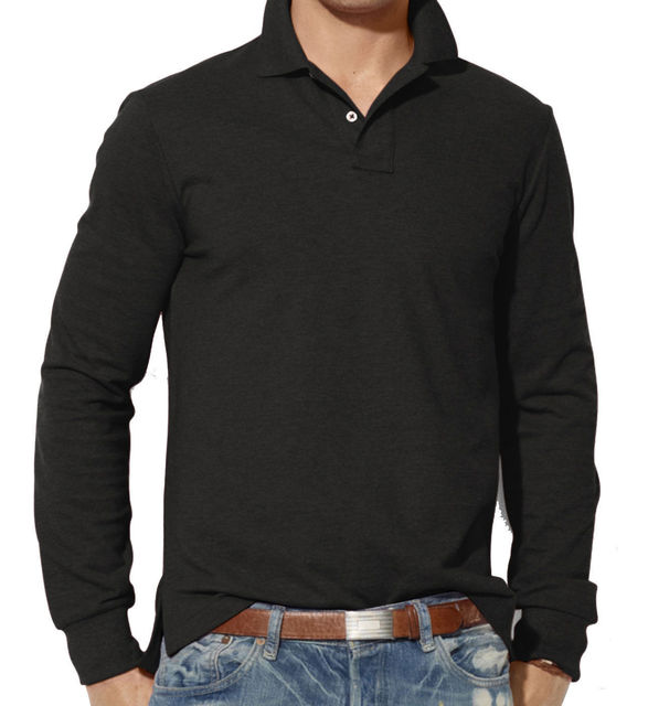 Fall Mens Long Sleeve Plain Shirts Top Casual Cotton Work Shirt Black Blue Red Green