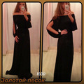 2015 Women Split Long Sleeve Chiffon Dress Formal Vestidos Sexy Off Shoulder Long Party Dress Maxi Dress