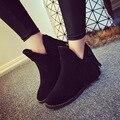 Outono Inverno Suede Fringe Tassel Ankle Boots de Couro para as mulheres sapatos de saltos baixos casuais V tipo preto cinza marrom das mulheres sapatos