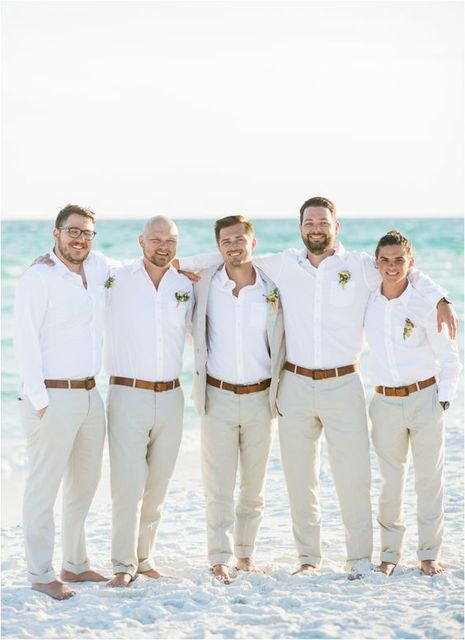 Latest Coat Pant Designs Ivory White Casual Groom Groomsman Beach ...